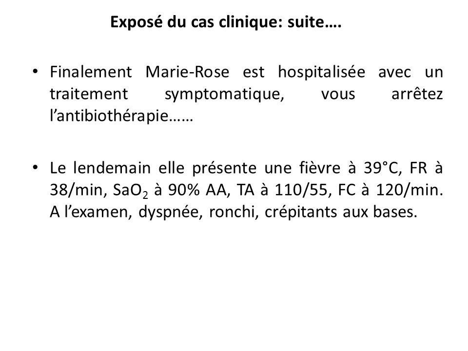 Exposé du cas clinique: suite….