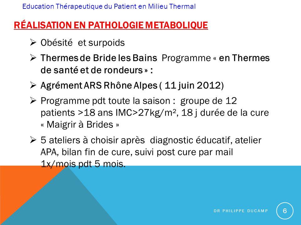 Réalisation en pathologie mEtabolique