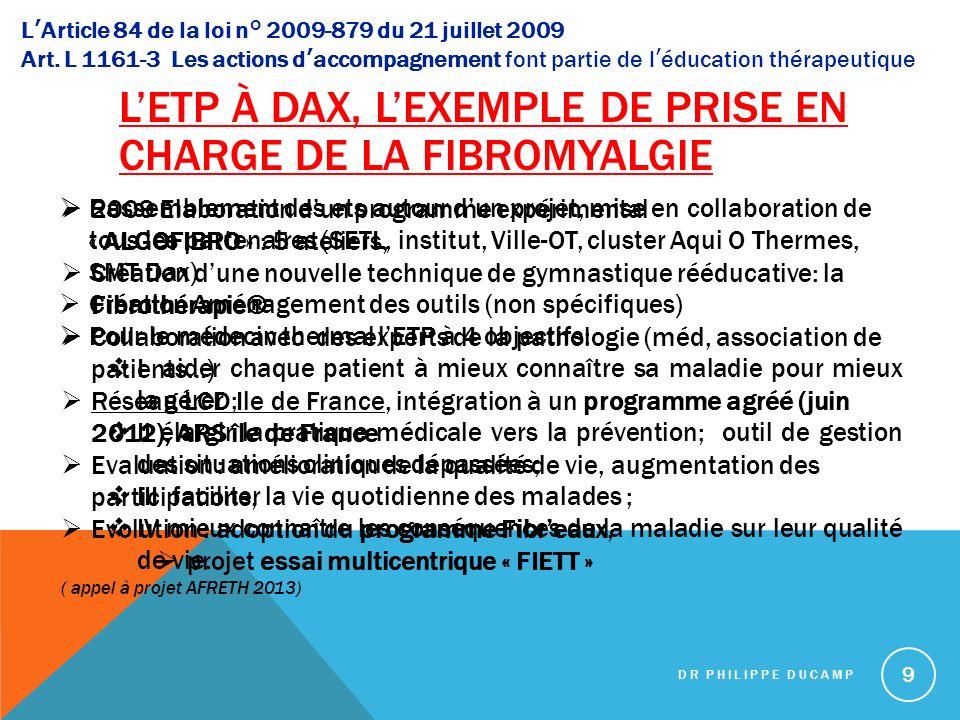 L'ETP à Dax, l'exemple de prise en charge de la fibromyalgie
