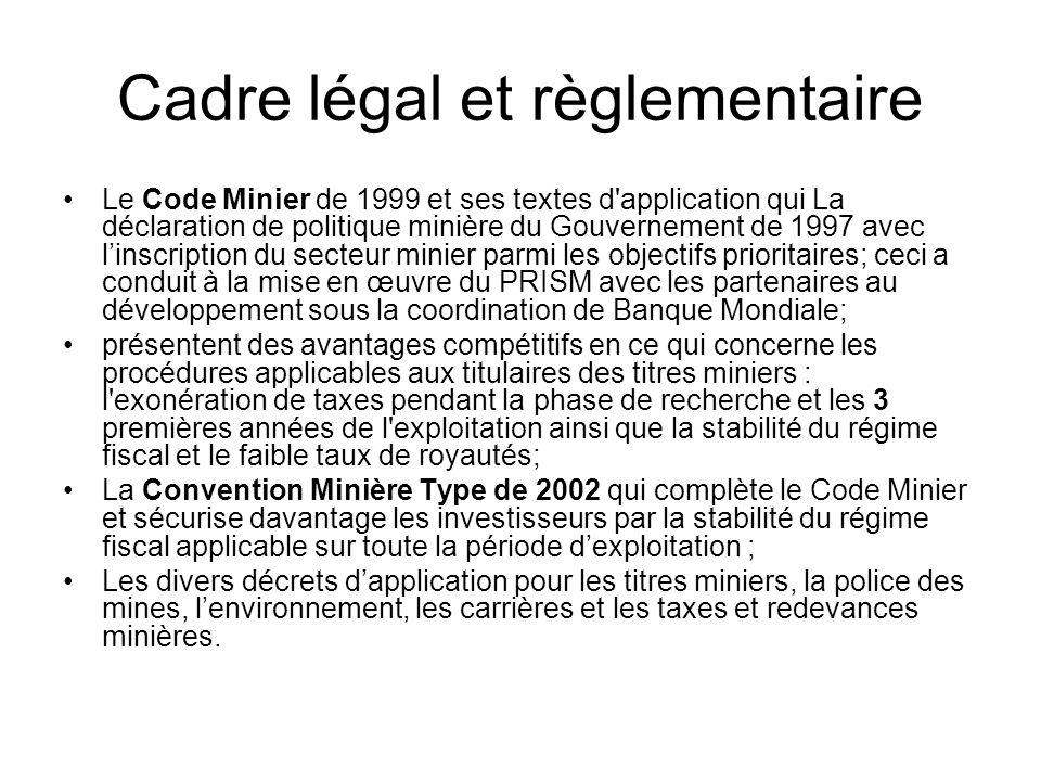 Cadre légal et règlementaire