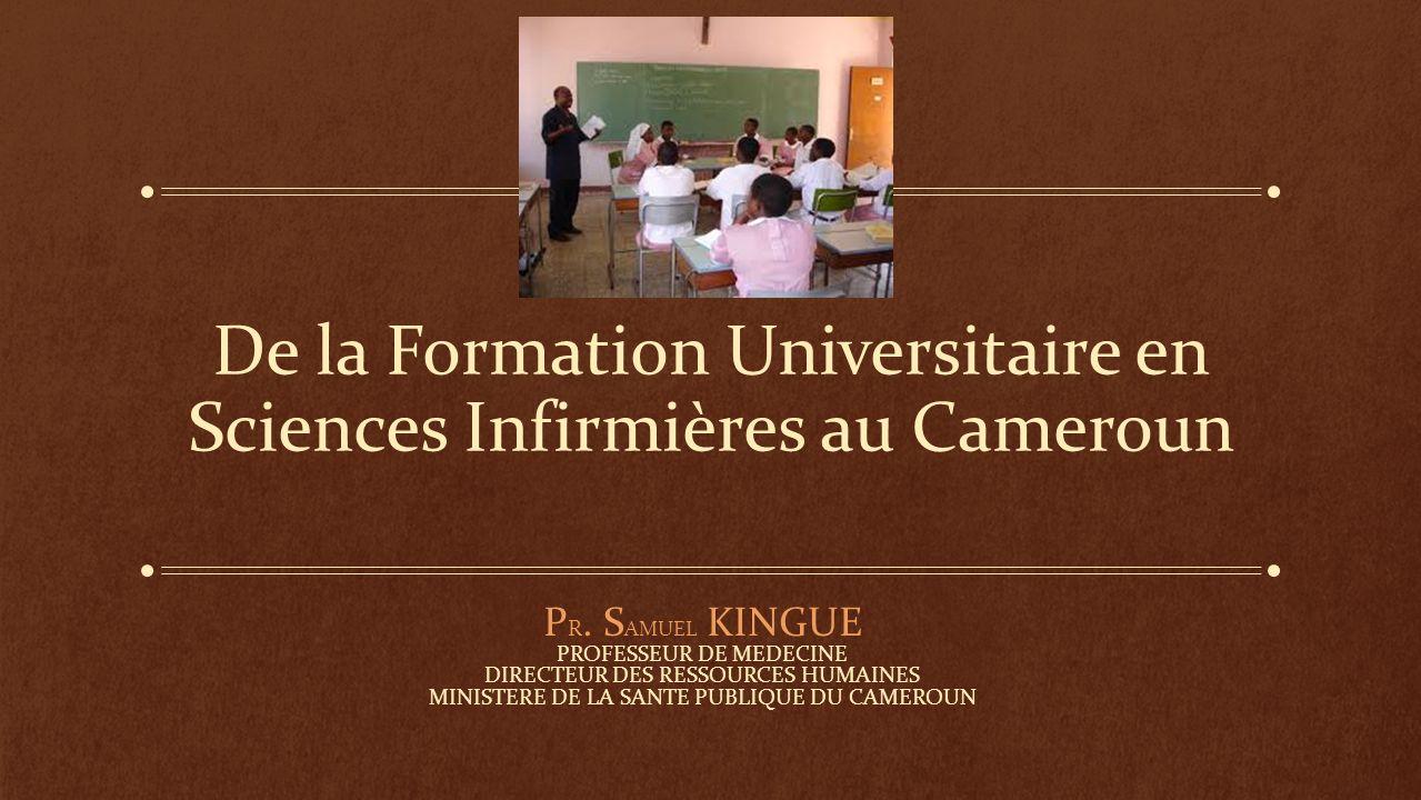 De la Formation Universitaire en Sciences Infirmières au Cameroun