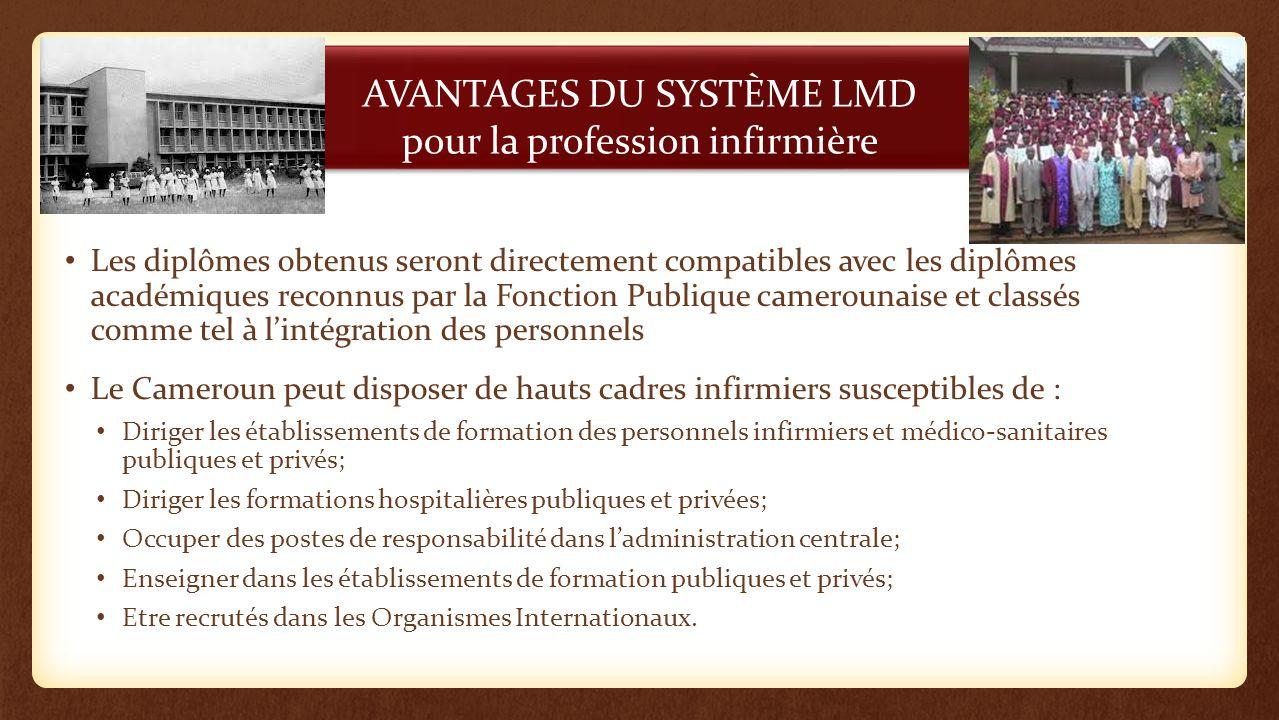 AVANTAGES DU SYSTÈME LMD pour la profession infirmière