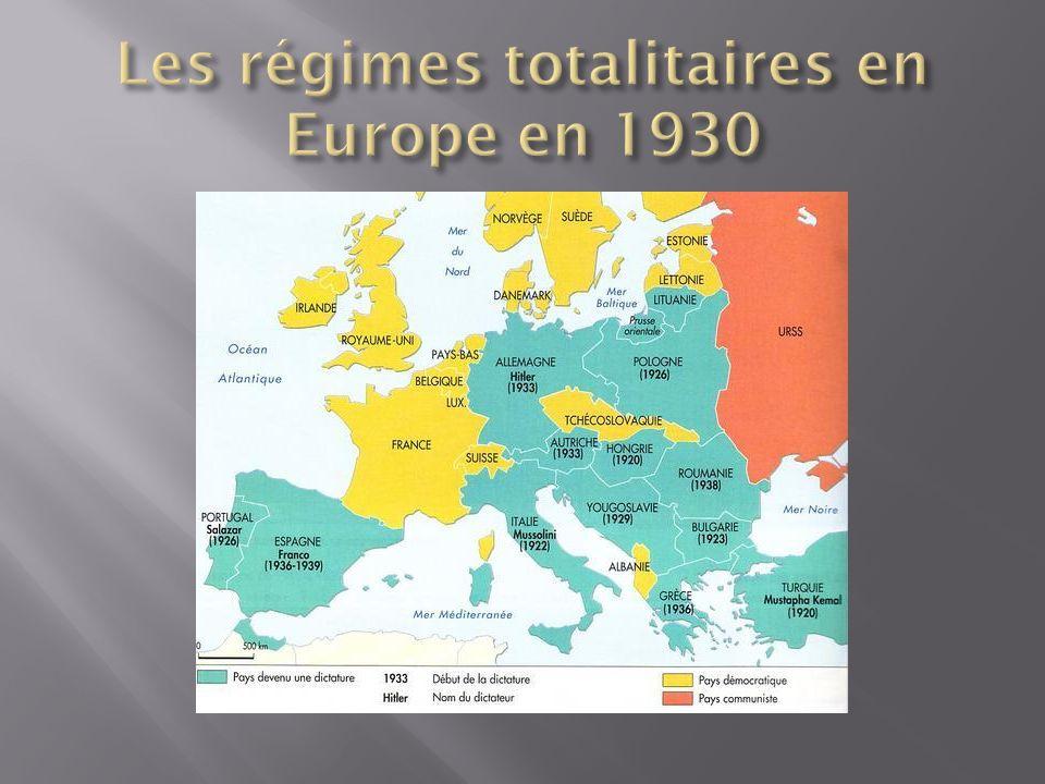 Les régimes totalitaires en Europe en 1930