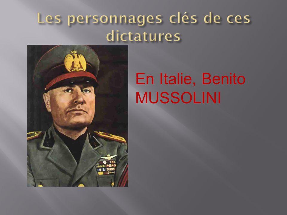 Les personnages clés de ces dictatures