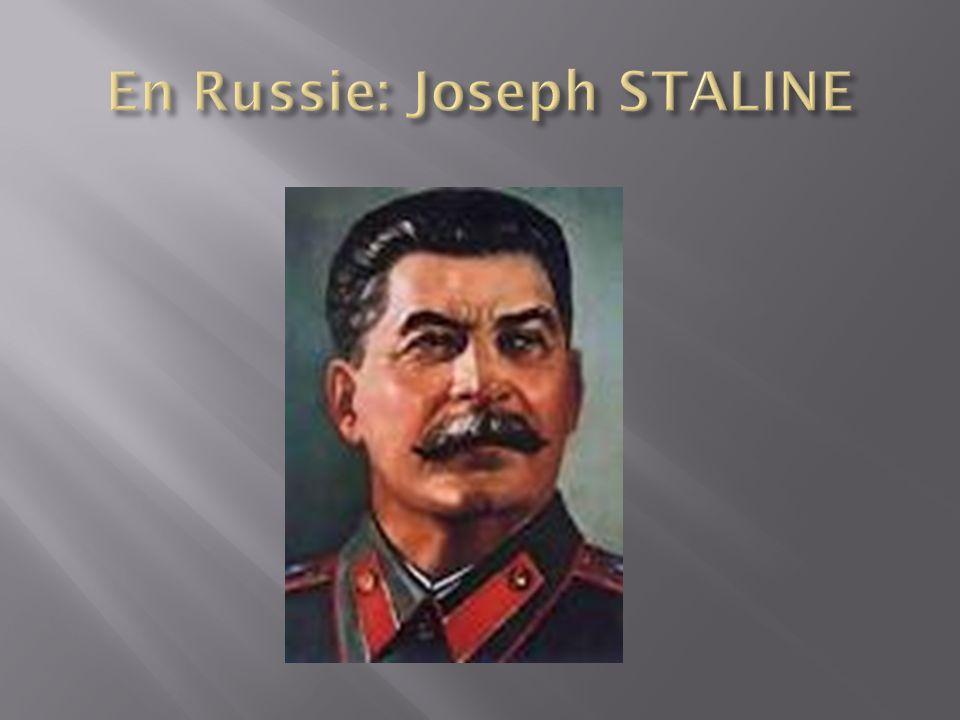 En Russie: Joseph STALINE