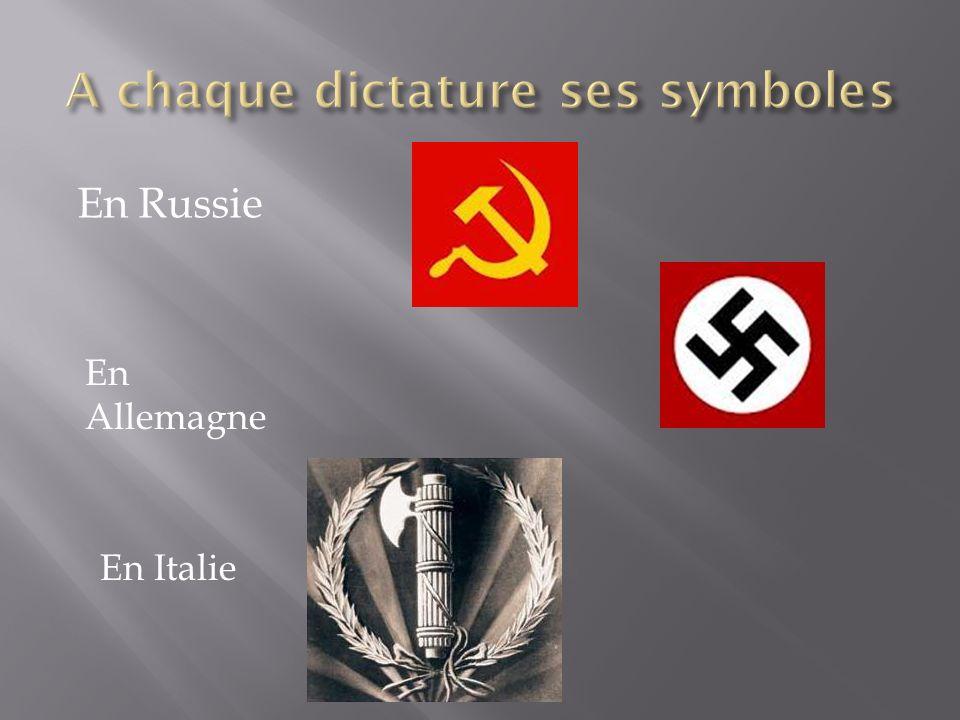 A chaque dictature ses symboles