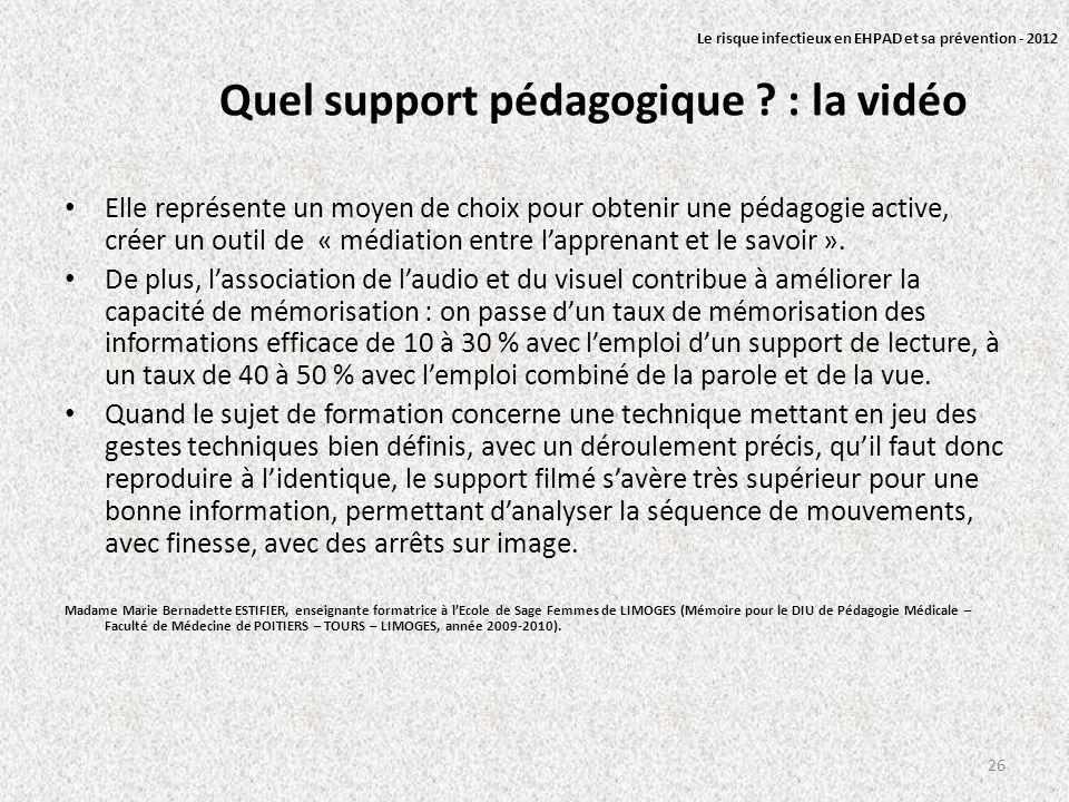 Quel support pédagogique : la vidéo