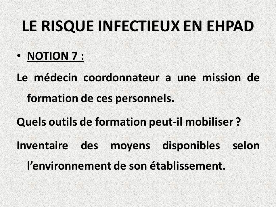 LE RISQUE INFECTIEUX EN EHPAD