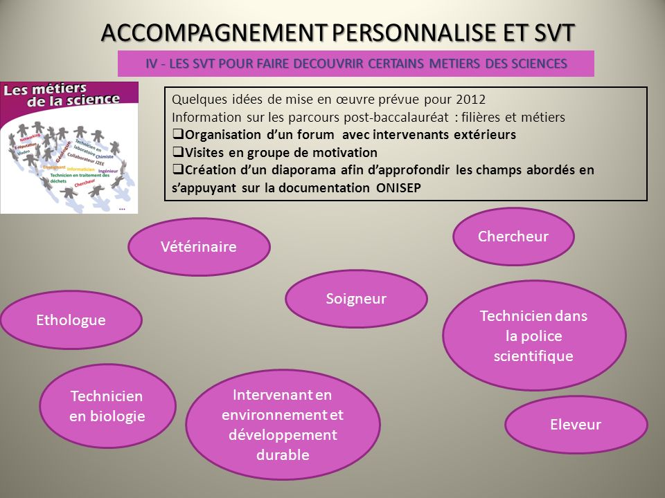 accompagnement personnalise et svt ppt video online t l charger. Black Bedroom Furniture Sets. Home Design Ideas