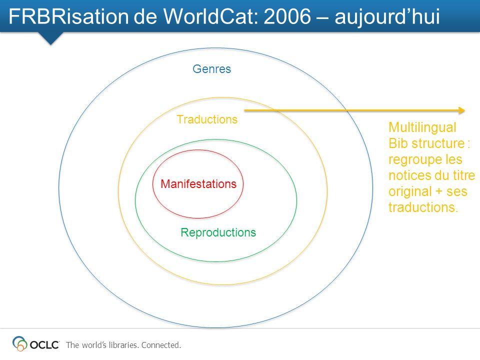 FRBRisation de WorldCat: 2006 – aujourd'hui