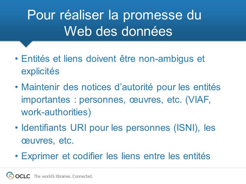 Pour réaliser la promesse du Web des données