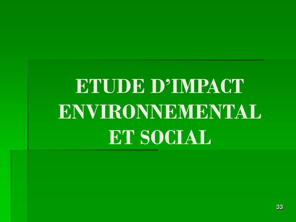ETUDE D'IMPACT ENVIRONNEMENTAL ET SOCIAL