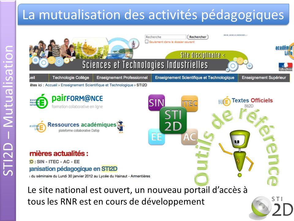 La mutualisation des activités pédagogiques