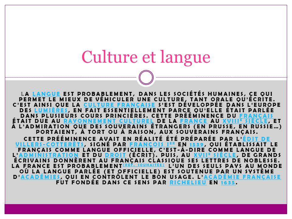 Culture et langue