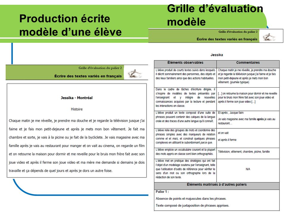 Grille d'évaluation modèle