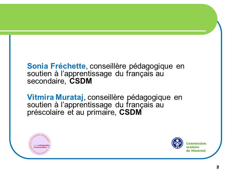 Sonia Fréchette, conseillère pédagogique en soutien à l'apprentissage du français au secondaire, CSDM