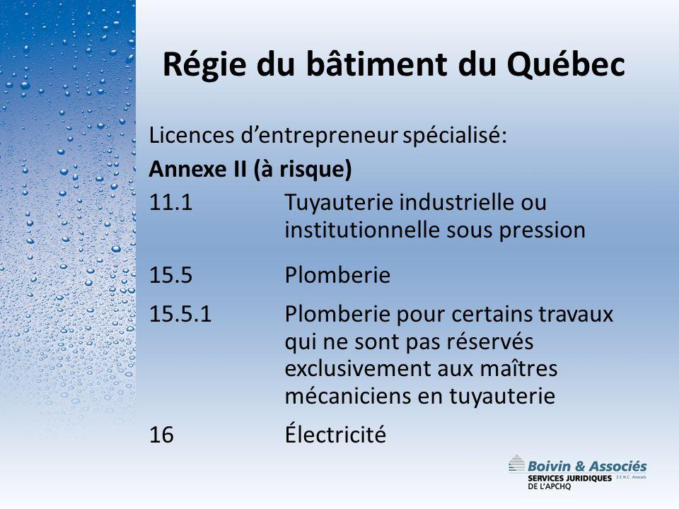 Régie du bâtiment du Québec