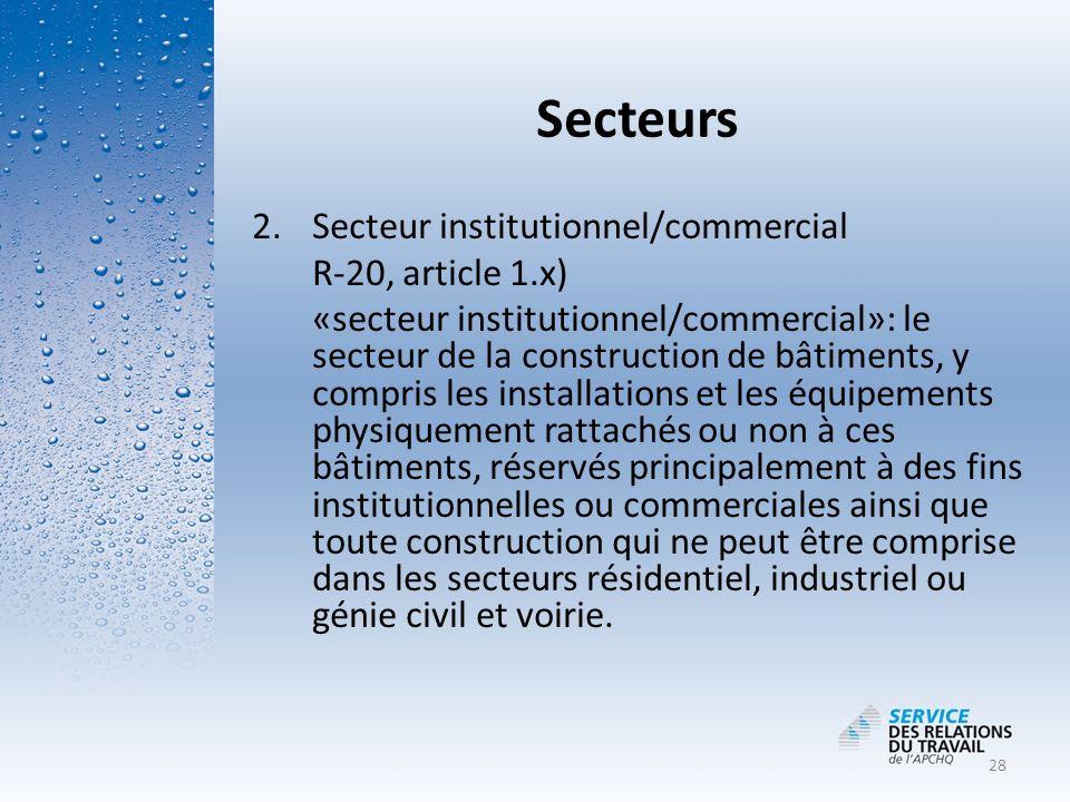 MDDEP Secteurs Loi sur la qualité de l'environnement (L.R.Q. c. Q-2)