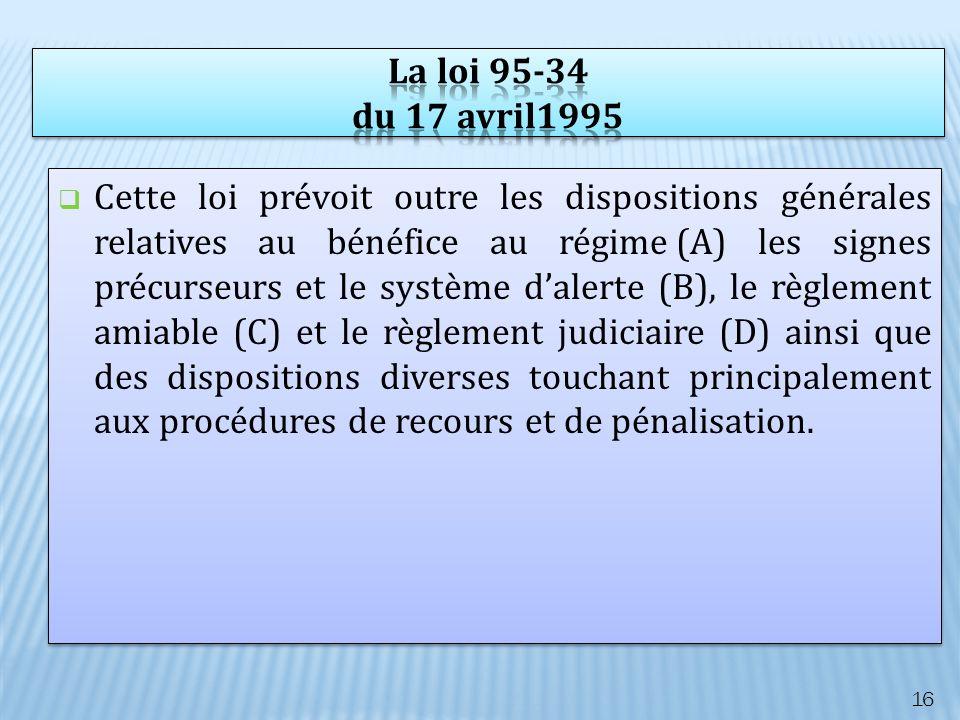 La loi 95-34 du 17 avril1995