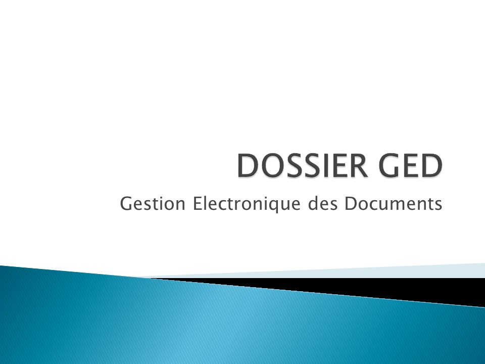 Gestion Electronique des Documents