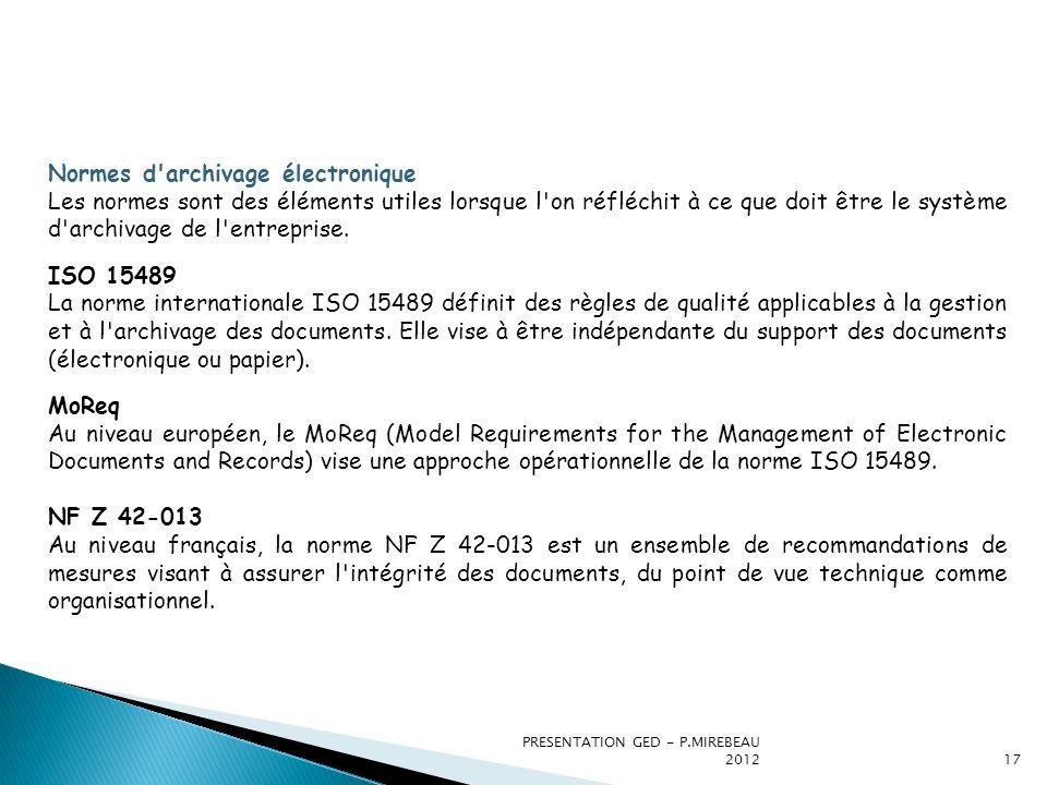 Normes d archivage électronique