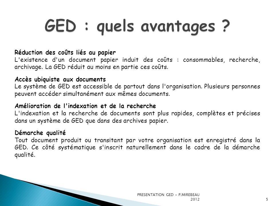 GED : quels avantages Réduction des coûts liés au papier