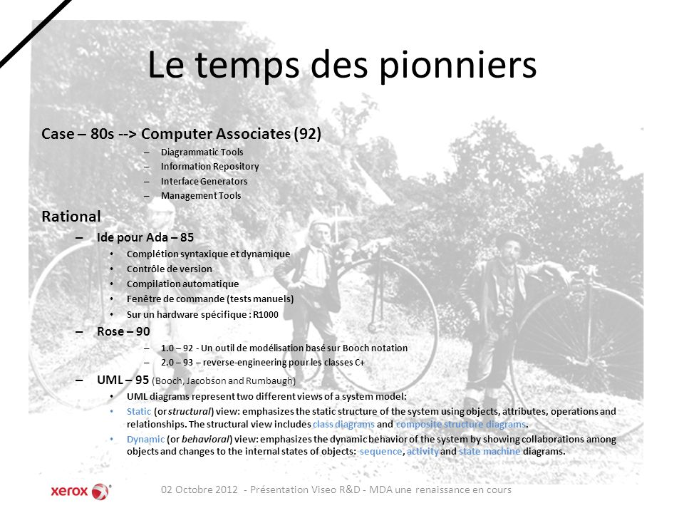 Le temps des pionniers Case – 80s --> Computer Associates (92)