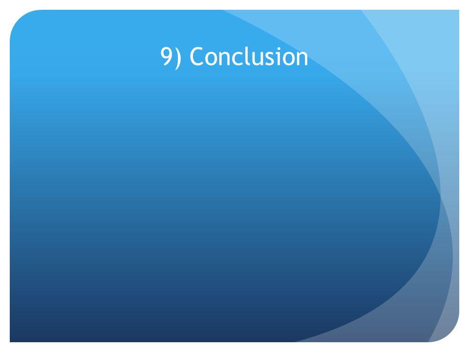 9) Conclusion