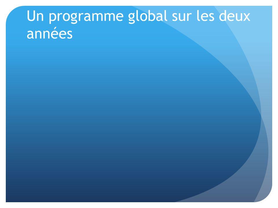 Un programme global sur les deux années