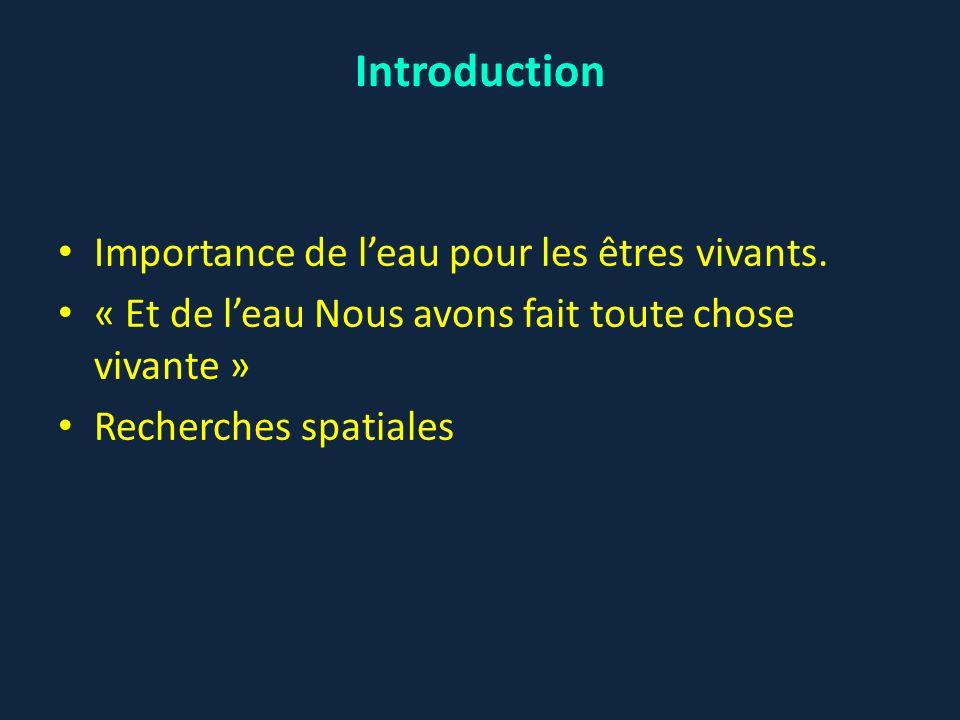 Introduction Importance de l'eau pour les êtres vivants.