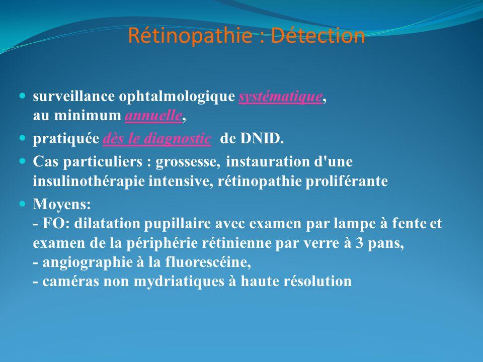Rétinopathie : Détection
