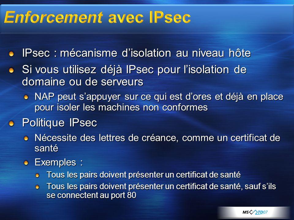 Enforcement avec IPsec
