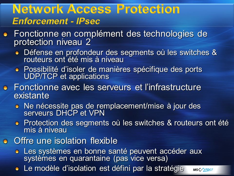 Network Access Protection Enforcement - IPsec