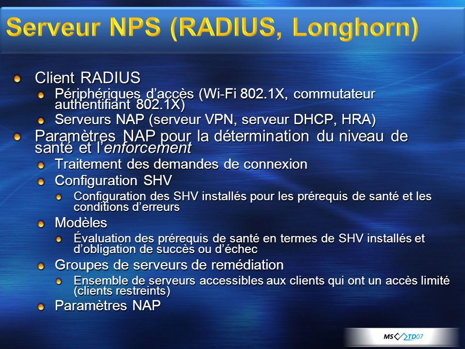 Serveur NPS (RADIUS, Longhorn)