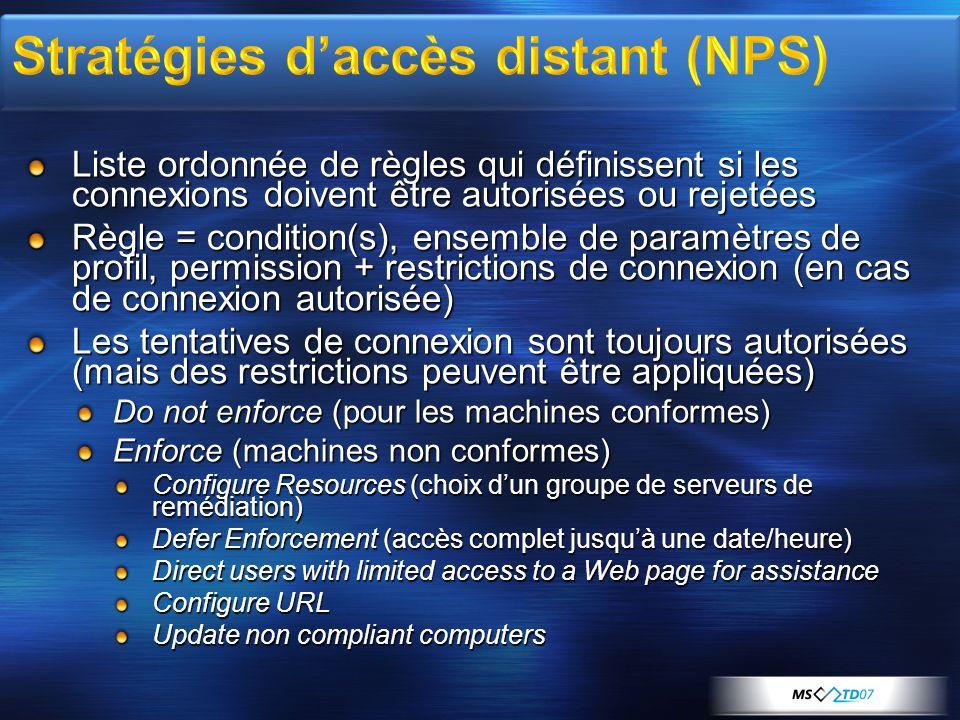 Stratégies d'accès distant (NPS)