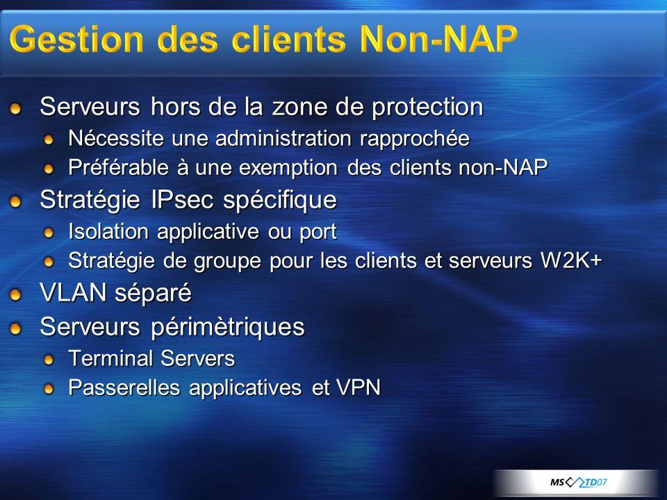 Gestion des clients Non-NAP