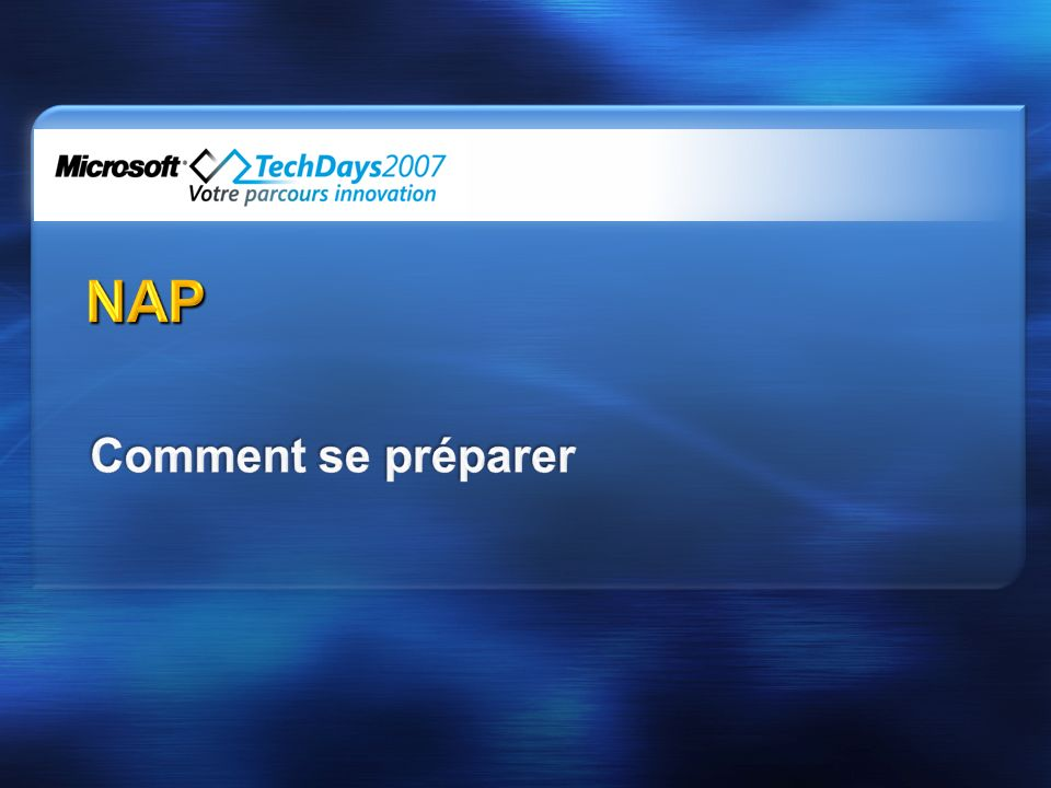 NAP Comment se préparer 3/29/2017 11:46 PM