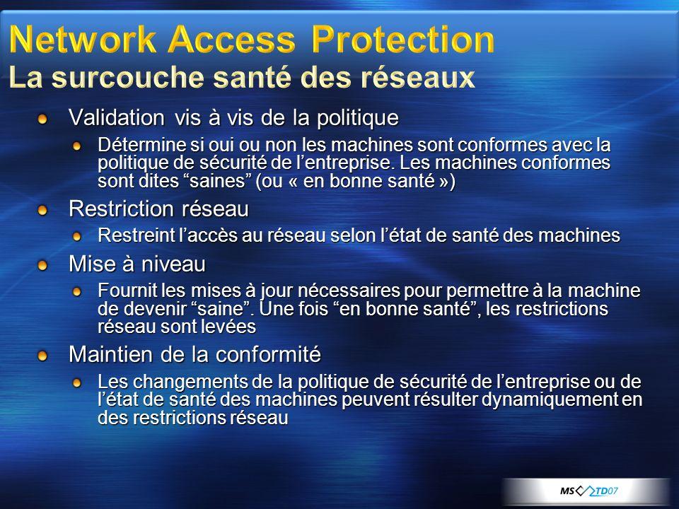 Network Access Protection La surcouche santé des réseaux
