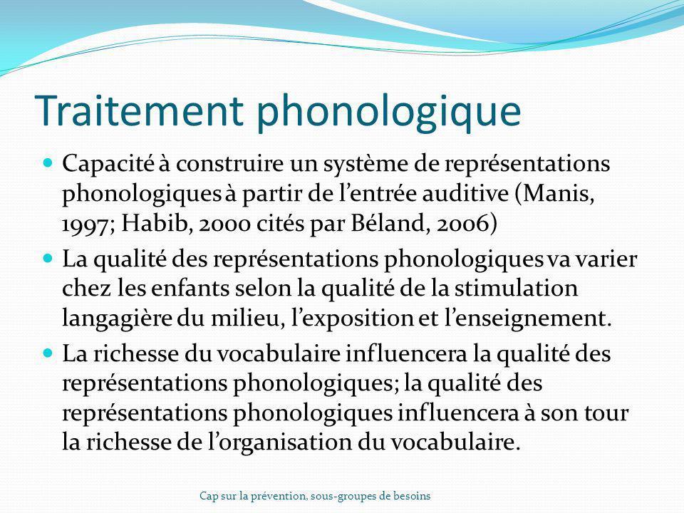 Traitement phonologique