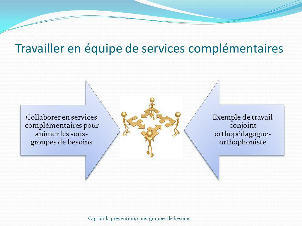 Travailler en équipe de services complémentaires