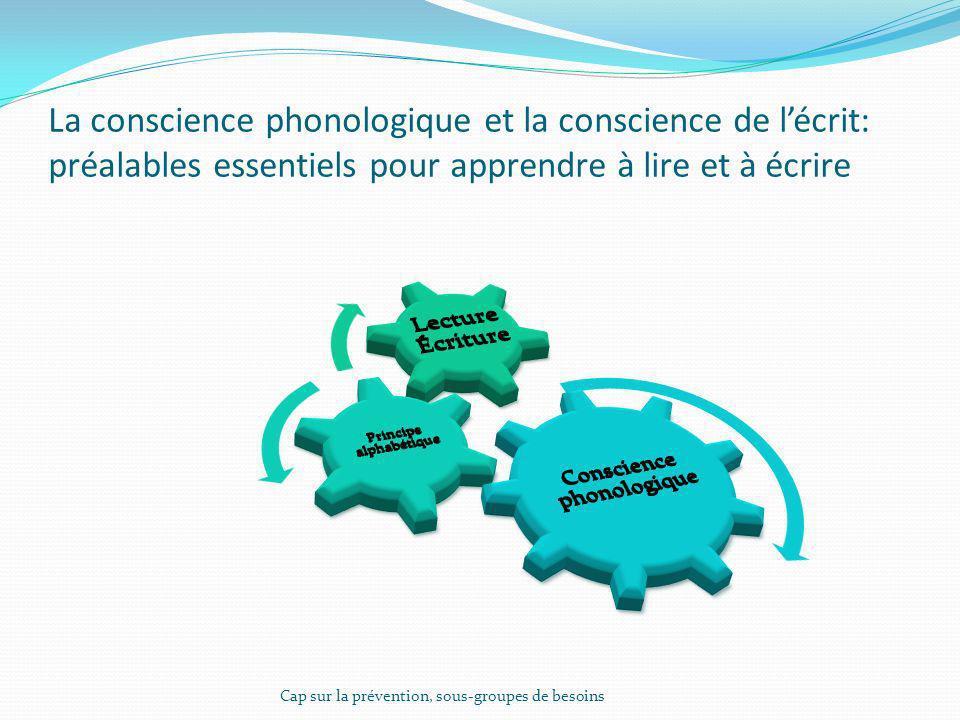 La conscience phonologique et la conscience de l'écrit: préalables essentiels pour apprendre à lire et à écrire