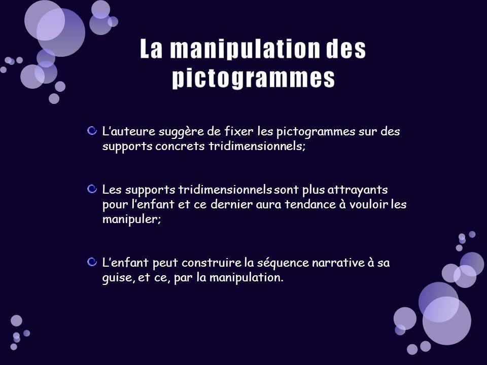 La manipulation des pictogrammes