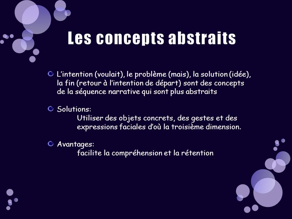 Les concepts abstraits