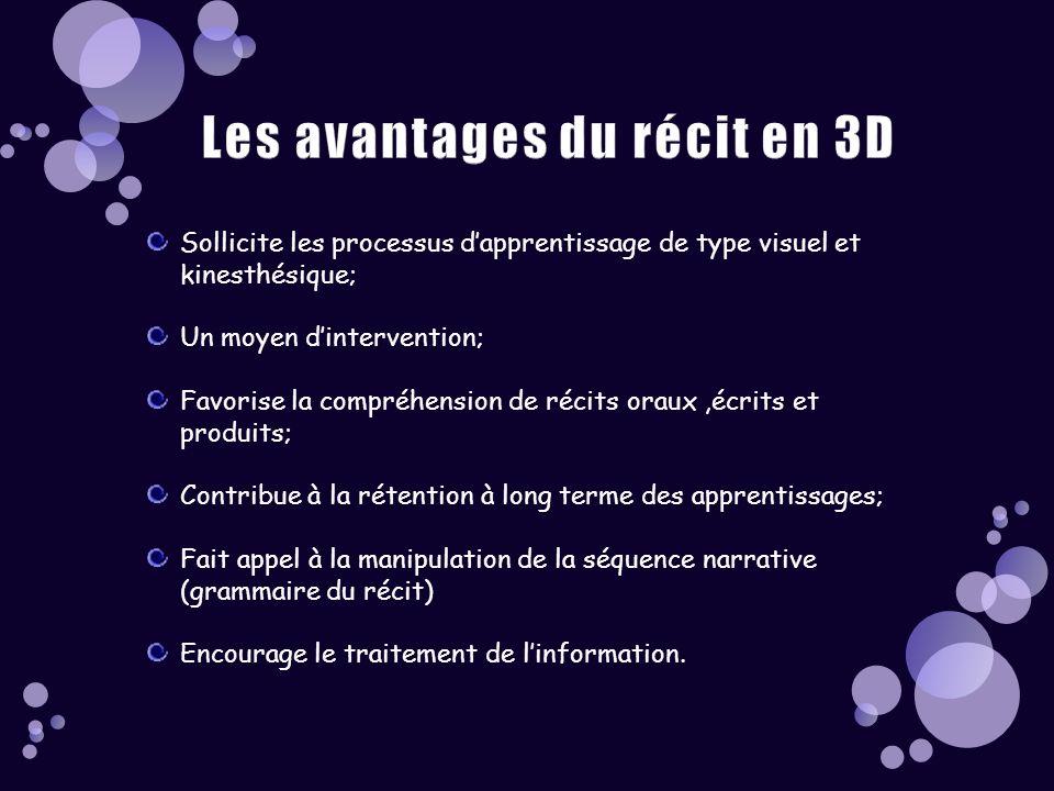 Les avantages du récit en 3D