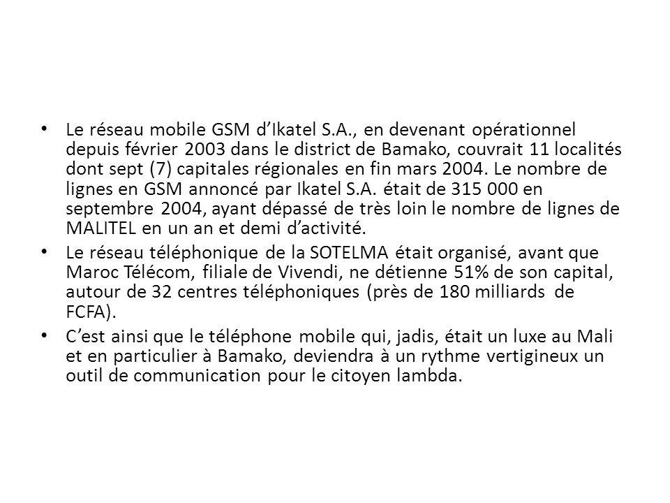 Le réseau mobile GSM d'Ikatel S. A