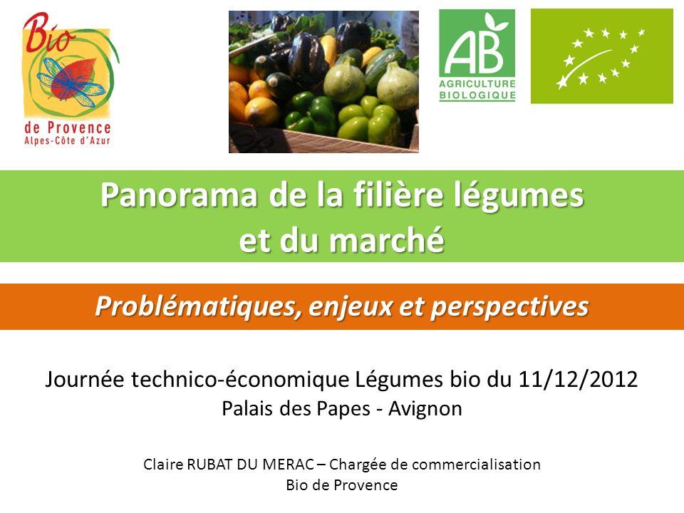 Panorama de la filière légumes et du marché