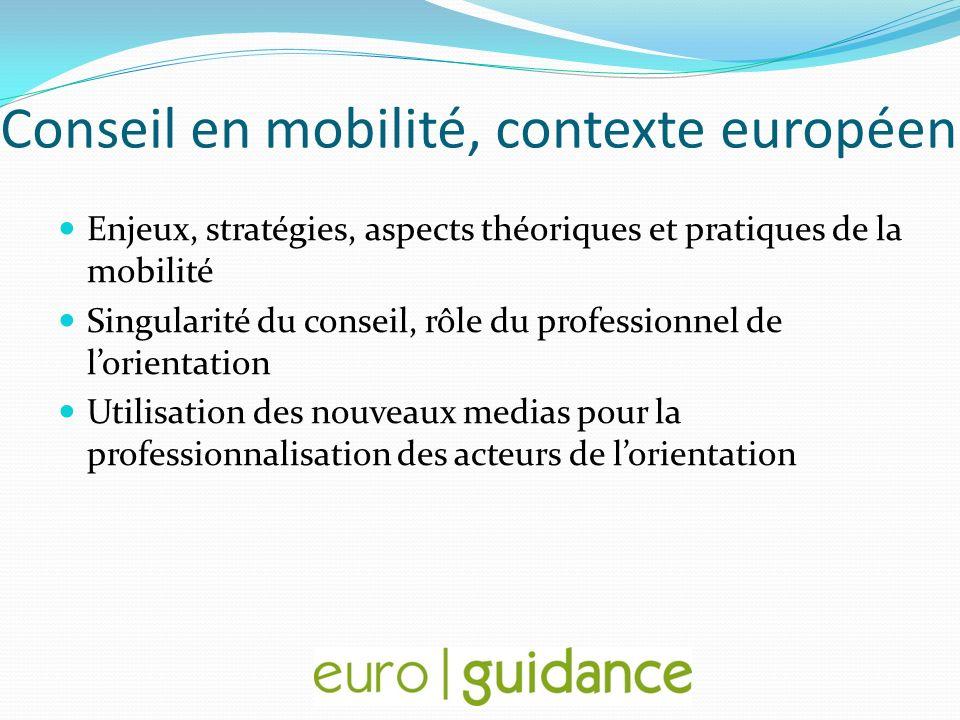 Conseil en mobilité, contexte européen