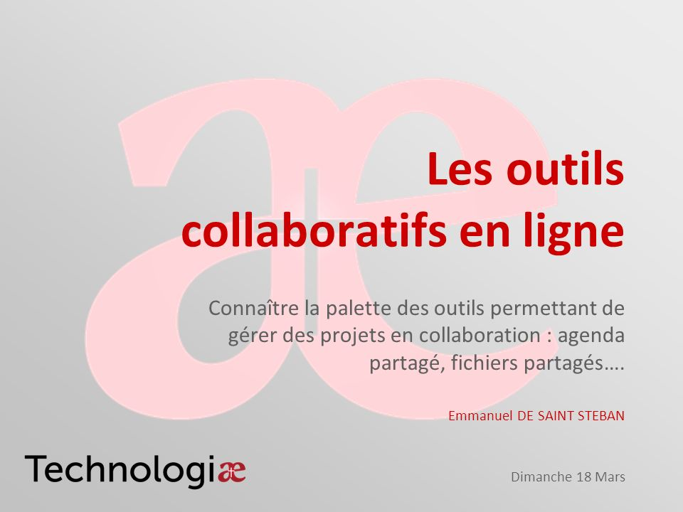 Les outils collaboratifs en ligne