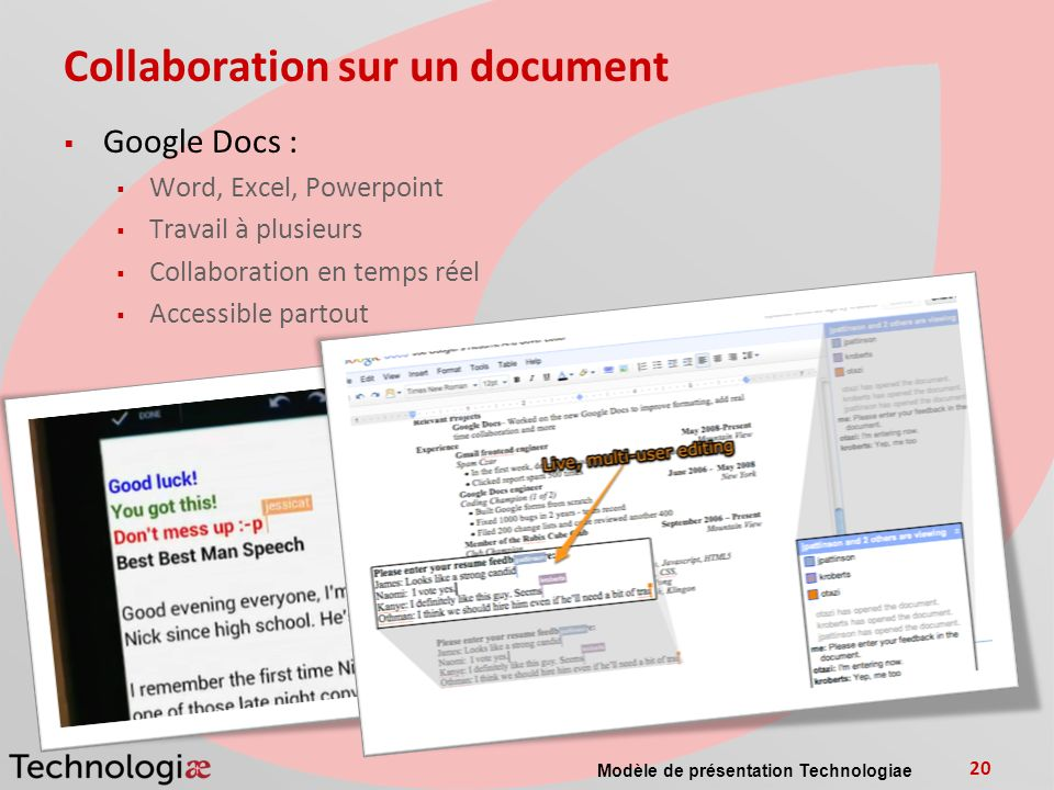 Collaboration sur un document