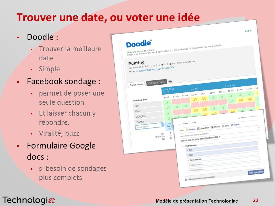 Trouver une date, ou voter une idée